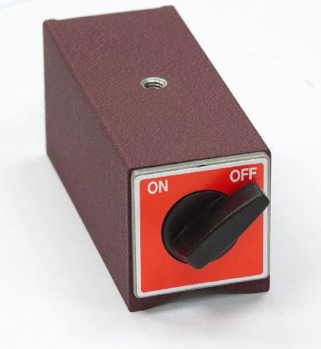 Viwanda ON/OFF Schaltmagnet mit V Aussparung, kein Elektromagnet ! 80x50x55, max. 100kg (980N)