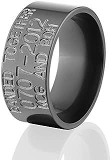 10mm Wide Black Zirconium Duck Bands & Rings