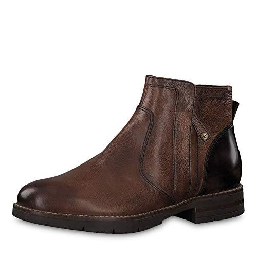 Tamaris Damen Stiefeletten 25421-23, Frauen Ankle Boots, Stiefelette knöchelhoch reißverschluss Damen Frauen weibliche Lady,Cognac,38 EU / 5 UK