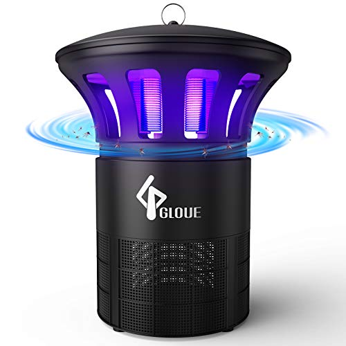 GLOUE Bug Zapper Indoor, Mosquito Killer Inhaler with Quiet Insects Traps Bugs Fruit Fly Gnat Mosquito Killer,LED Light Inhaler Lamp, Suitable for Indoor Residential & Office(12.4IN)