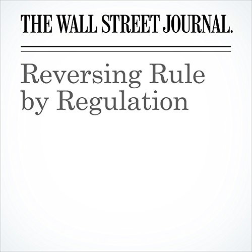 Reversing Rule by Regulation audiobook cover art