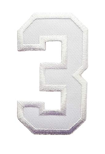 embroidered number 3 - 6