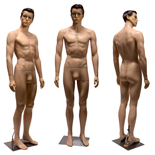 Realistic Standing Male Adult Mannequin + Base (YM8-1F)