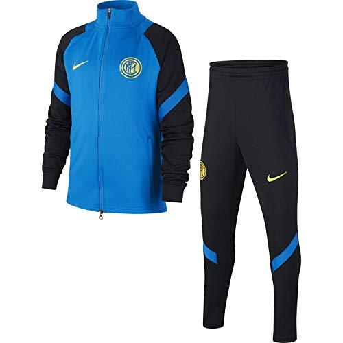 Nike CD5352-413, Tuta da Ginnastica Bambino Unisex, Blue Spark/Black/Tour Yellow, L