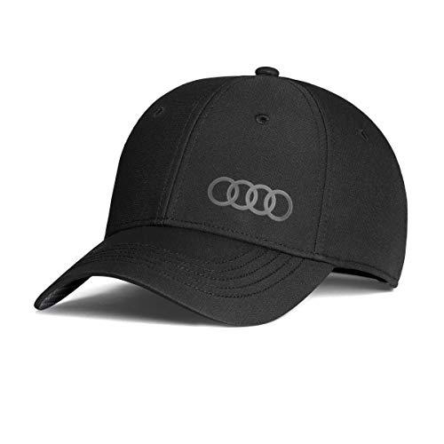 Audi 3131800100 Original Basecap Kappe Cap Premium 'Frequenz', schwarz