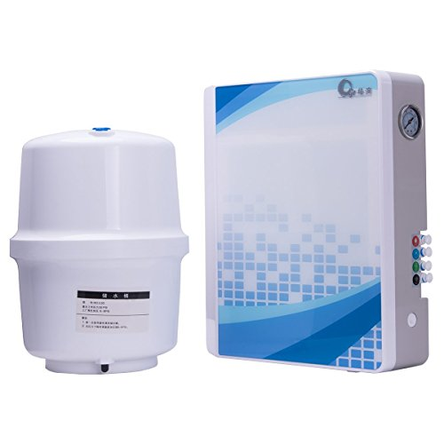 Filtro de agua JIAYIDE® Sistema de filtración de agua por agua viva, ionizador alcalino de pH alto Dispensador de purificador de agua, filtración super rápida (RO-300-0008)B