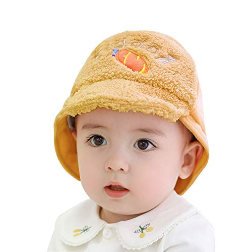 Sombrero gorra bebé niño pequeño niños imitación piel sombrero de invierno sombrero caliente con la banda de sudor y el conejito 3d hecho punto el visor de la visera gorras sombrero de punto (color: b