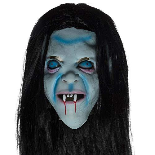 Hexen Maske aus Latex Hexenmaske The Ring Halloween Vampir Vollkopf Geist Vollmaske Cosplay