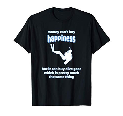 El dinero no te hace feliz, pero bucear | Buzo de regalo Camiseta