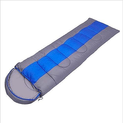 Kanmeipp Sac De Couchage Adulte Extérieur Camping Lunch Break Voyage Camping Sac De Couchage Simple Double Peut être Cousu 1,8 kg s 220 x 75 cm Bleu