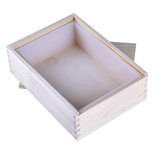 Nicole Rechteck Silikon Seifenform weiße handgefertigte Laibform mit Holzbox
