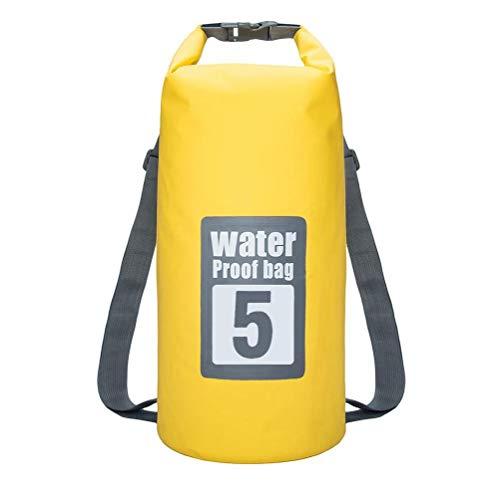 NaiCasy Bolsa Impermeable seco Piscina Mochila 5L con Correa Ajustable para el Kayak canotaje Deriva
