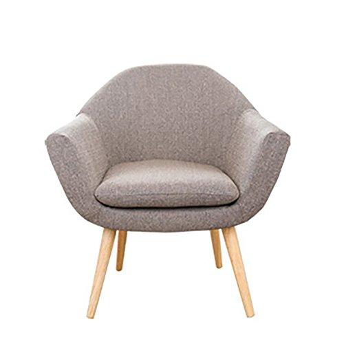 G-Y Sofa Paresseux, Nordique Petite Taille Simple Moderne Salon Canapé Unique, Chambre Balcon Petit Canapé (lin) (Couleur : Lumière Couleur Café)