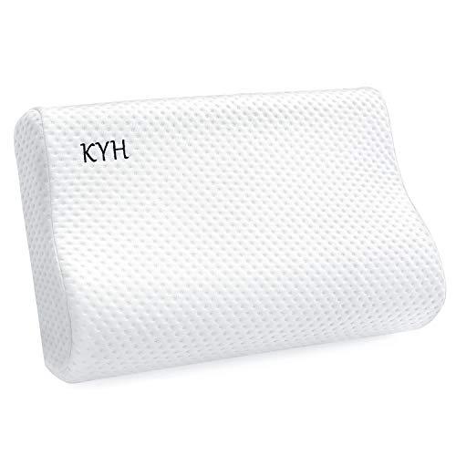 KYH 枕 安眠 まくら 低反発 柔らか 肩が軽くなるまくら 頚椎サポート通気性抜群 カバー洗濯可 子供用7.5cm低め 大人用10cm高め 高さ調整 (ホワイト)