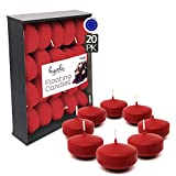 Hyoola Premium Red Floating Candles 2 Inch - 4 Hour - 20 Pack -...