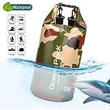 ASEOK Tarnung Dry Bag,Wasserdichter Packsack, Schwimmender Trockenrucksack Strandtasche Leichter...