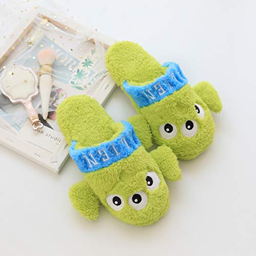 N / A Cartoon Stitch Mickey Mouse Plush Cute Plush Shoes Cotton Warm Winter Home Shoes Cumpleaños Navidad Niños Regalo 27cm