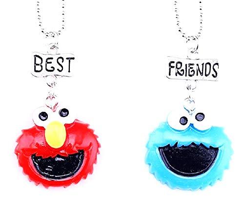 Twee meisjeskettingen - vriendschap - x 2 - beste vrienden voor 2 - paar - bff - kerst - poppen - zilver - origineel cadeau-idee