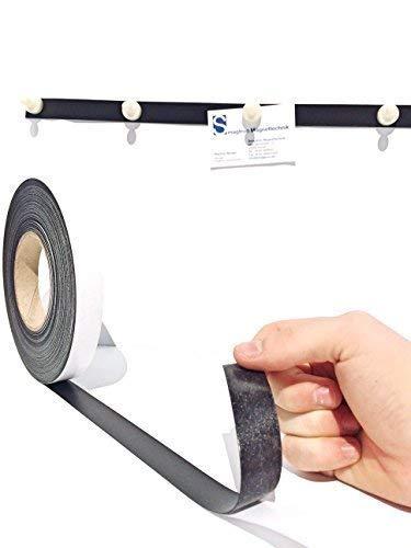 Meterware Ferroband selbstklebend 30mm x 0,6mm Braun Magnetband Magnethaft Wandleiste Selbstklebend, Eisenband, Ferroleiste