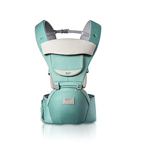 SONARIN 3 en 1 Toutes Saisons porte-bébé respirant Hipseat,Baby Carrier,Ergonomique, Protection Solaire, Multifonction, Facile maman,100% GARANTIE et LIVRAISON GRATUITE, Idéal Cadeau(Vert)