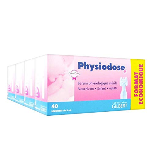 Fysiodose Fysiologisch Serum, Steriele zoutoplossing, Engelse instructies (160 zoutpods, enkele doses - 4 verpakkingen), babyneusspoeling