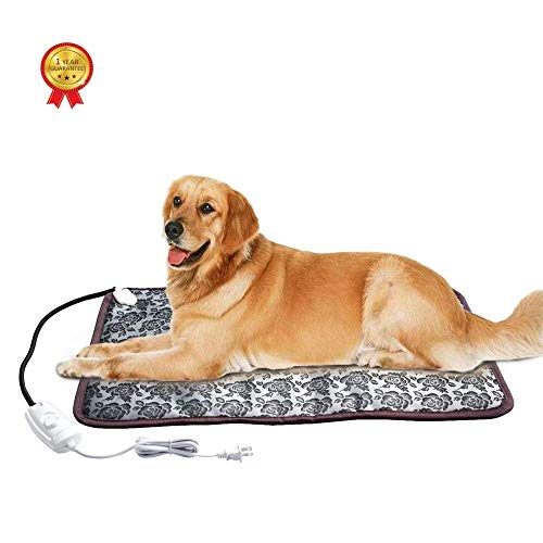 Langroup XXL Pet Heating Pad for Large Dog House Heater Indoor, Electric Adjustable Dog Warming Mat...