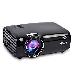 Everycom X8 Home Theatre Full HD 1080p Supported with 3200 Lumens LED Projector - Black [2020 Upgrade],Everycom,X8