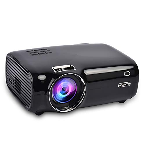 Everycom X8 [2020 Upgrade] Native 720P with Full HD 1080p Support 3200 Lumens and 200'' Display Home Theatre LED Projector- Black