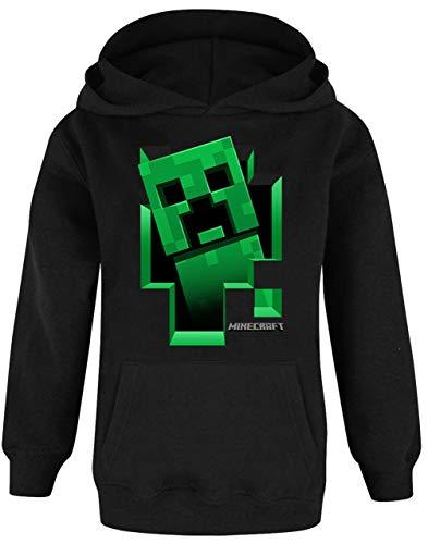 Minecraft Hoodie Jungen Kids Gamer Black Creeper Inside Hooded Jumper 11-12 Jahre