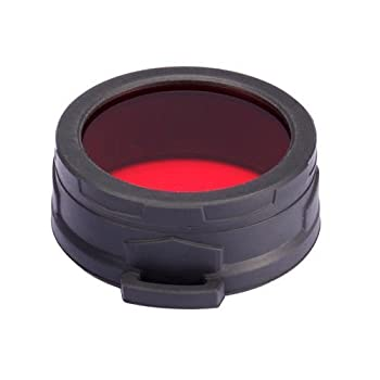 Nitecore NFR60 Filtre pour torche Rouge