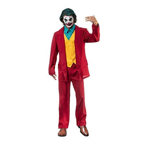 Chaks Traje de pelcula para Hombre Mr.Loco para Fans de Joker Rojo Amarillo - XL
