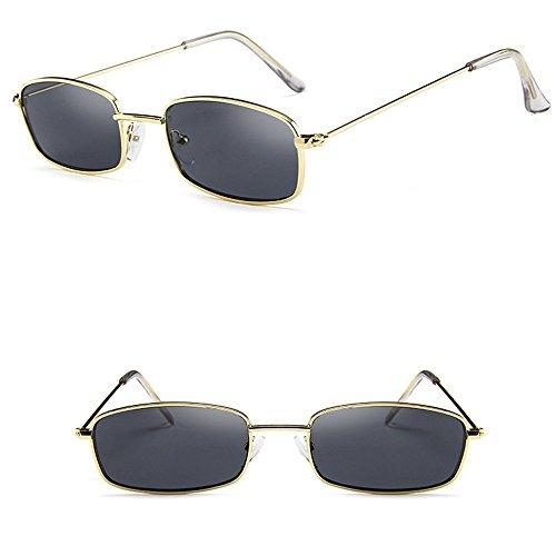 Weilov Classic Gold Rim Gafas De Sol Gafas Mujer Hombre Sombras Cuadradas Gafas De Sol Con Montura Rectangular Pequeña