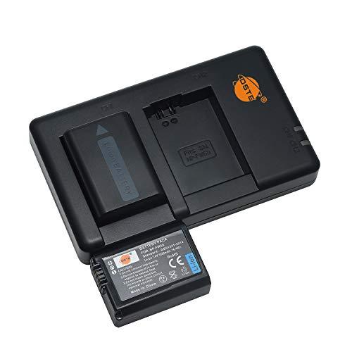 NP-FW50 (2 pezzi) Batteria di ricambio ricaricabile e doppio caricatore compatibile con Sony Alpha 7 (a7)/7R (a7R)/7S (a7S),a3000,a5000,a6000,NEX-7/C3/F3,Cyber-shot DSC-RX10,SLT-A33/A35/A37