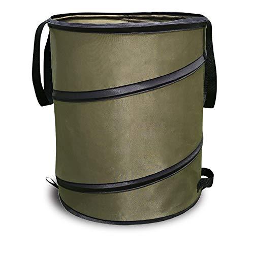 ONEON ガーデンバケツ 自立式 折りたたみバケツ 庭収納 収穫 除草作業など最適 集草バッグ 手提げストラップ付 持ちやすい 便利グッズ (91L)