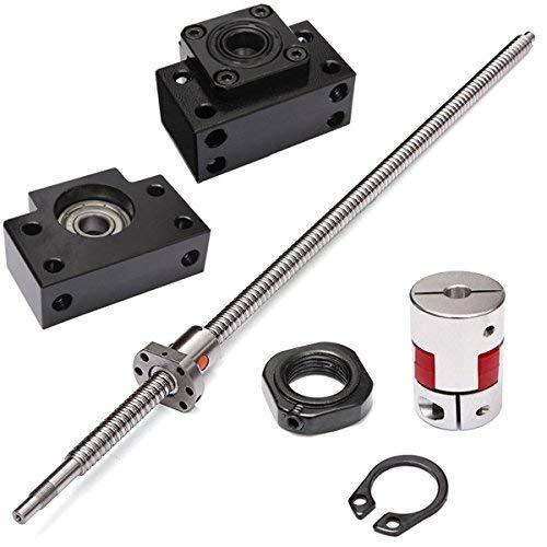 SUCAN SFU1605 650mm tornillo de bola con soportes de tornillo de bola BK12 BF12 y acoplador