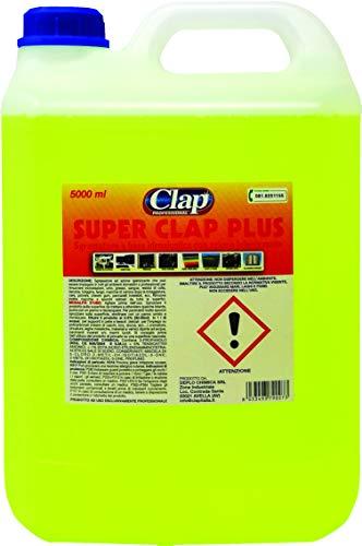 CLAP Super CLAP Plus - Limpiador desengrasante concentrado profesional en bidón de 5 litros - Fabricado en Italia