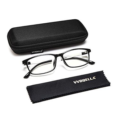 VVDQELLA Gafas Presbicia 2.0 Ligeras y Calidad Contra Luz Azul & UV Montura en TR90 Lentes en Resina Premium Gafas Ordenador Unisex, Protege Tus Ojos, con Funda