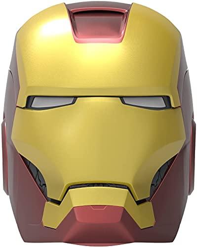 ekids Vi-B72IM Marvel Iron Man Helm Bluetooth Wireless Lautsprecher mit leuchtenden Augen tragbar Gold/rot