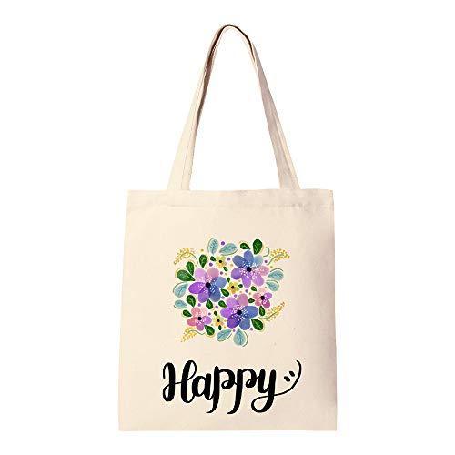 Sac fourre-tout réutilisable en toile de coton pour courses, sacs à provisions à la mode pour travaux manuels