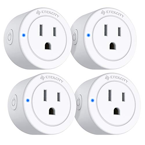 VeSync Mini Smart Plug by Etekcity, Compatible with Alexa, Google Home & IFTTT, Remote Control with Timer Schedule Away Functions, Group Control Supported, No Hub Required, ETL Listed(4 Pack)