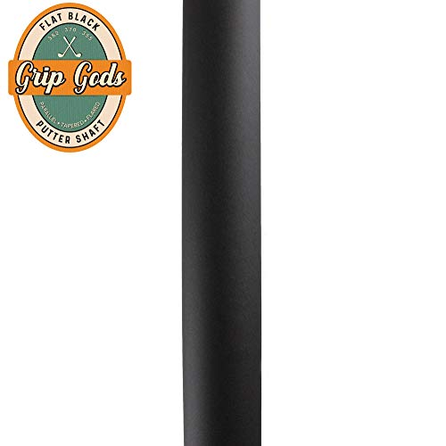 Grip Gods Custom Colored Golf Shaft Flat Black Putter Shaft for Scotty Cameron Odyssey Taylormade and Ping Style Putters .370 Parallel Tip Shaft