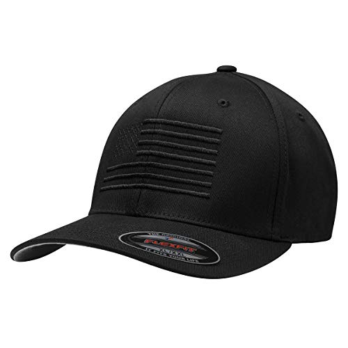 The Ultimate American Flag Hat - The Blackout Flexfit (S/M)