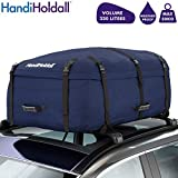 HandiHoldall Large Vehicle Roof Bag / Top Box (Navy Blue) – 330L Weather