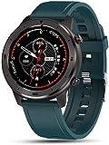 SKSNB Relojes Elegantes, Relojes Elegantes Redondos de la Pantalla táctil de los Hombres, Reloj Deportivo Impermeable IP68, para Android iOS