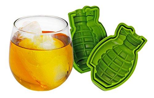 Fairly Odd Novelties Grenade Shaped 3D Mold Fun Bomb Military Ice Maker Gift