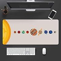 XXL マウスパッド ラップトップマット,惑星 ステッチされたエッジ マウスパッドゲーミング,拡張 ゴムベース キーボードパッド,マウスパッド コンピュータ用 Pc
