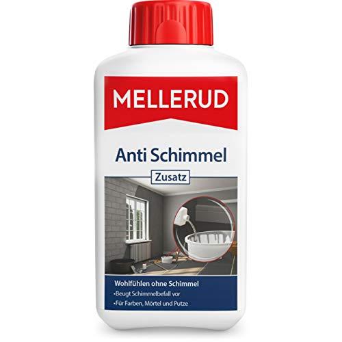 Mellerud Anti Schimmel Zusatz – Vorbeugung gegen Schimmelbefall zum Einmischen in Farbe, Mörtel, Putz oder Leim – 1 x 0,5 l