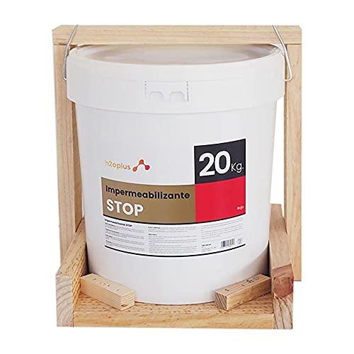 Revestimiento Elástico Impermeabilizante Stop · Pintura Impermeabilizante Terrazas y Azoteas · Producto Natural 100% en Base Agua, SIN Olor a Disolventes Químicos · Rojo Teja · 20 Kg (16,6 L)