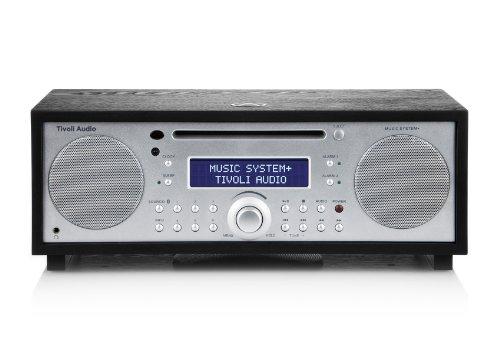 Tivoli Music System+ Bluetooth DAB+/UKW/CD 2.1 System in schwarzer Esche/Silber