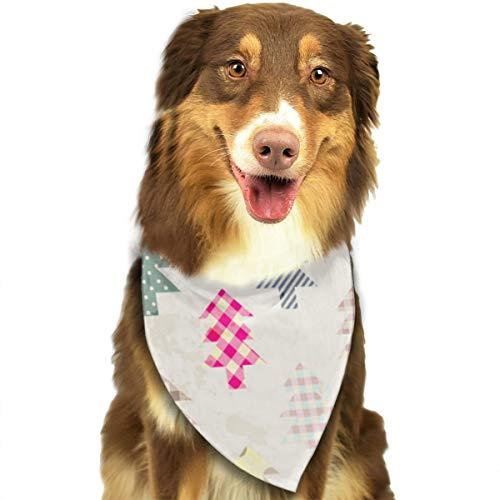 Hipiyoled Fondo de Navidad sin Costuras en Estilo Patchwork 576 Accesorios de Bufanda para Mascotas Baberos de triángulo Pañuelos